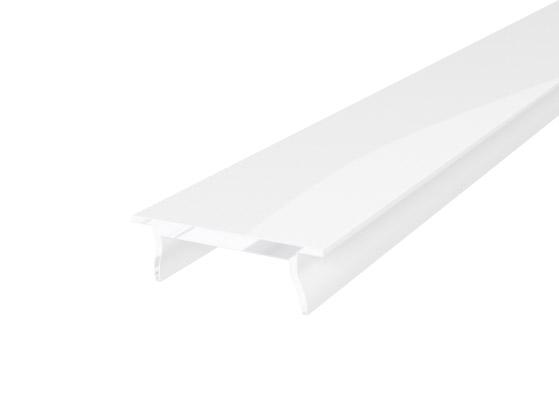 Slim Surface Profile 15mm White Finish & Semi Clear Cover (2M)