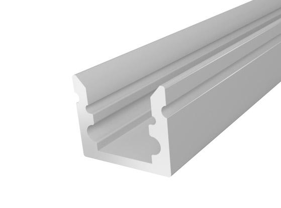 Micro Surface Profile 10mm Silver Finish & Semi Clear Cover (1M)