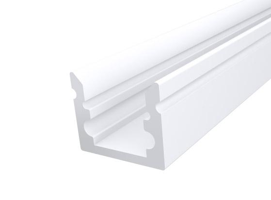 Micro Surface Profile 10mm White Finish & Semi Clear Cover (1M)