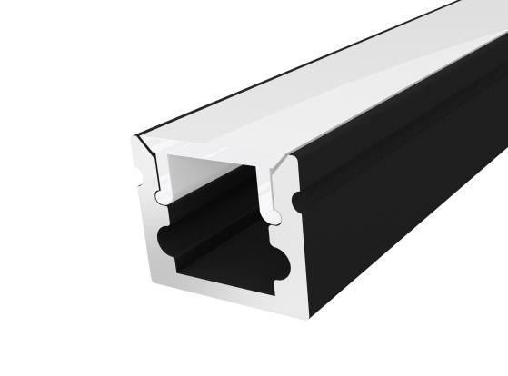 Micro Surface Profile 10mm Black Finish & Semi Clear Cover (1M)