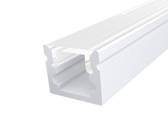 Micro Surface Profile 10mm White Finish & Clear Cover (1M)