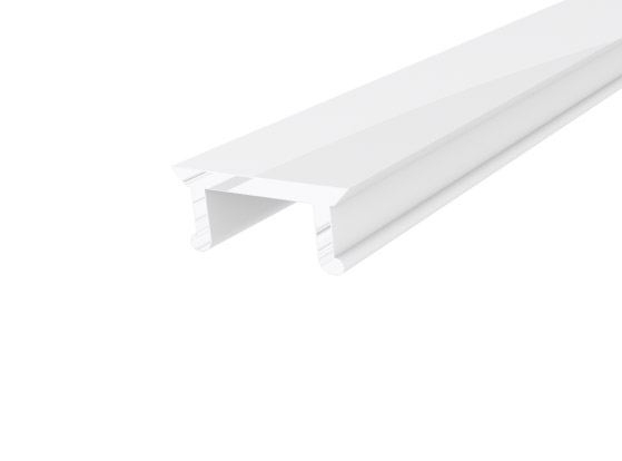 Micro Surface Profile 10mm White Finish & Opal Cover (2M)