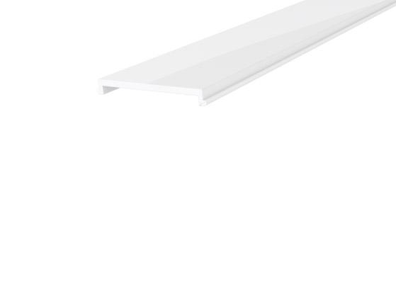 Large Square Profile 35mm White Finish & Opal Cover (1M)