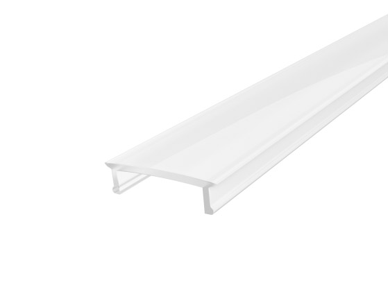 Slim Recessed Profile 17mm White Finish & Semi Clear Cover (1M)
