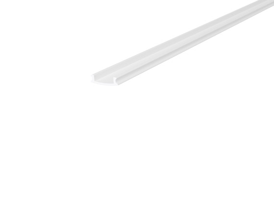 Skirting Profile 70mm White Finish & Semi Clear Cover (2M)