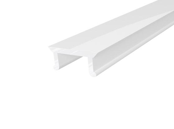 Micro Surface Profile 10mm White Finish & Semi Clear Cover (2M)