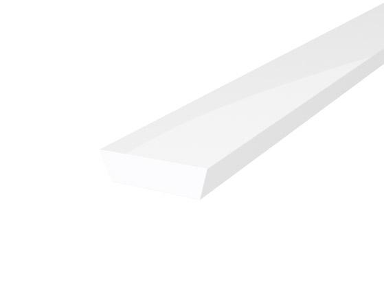 IP65 Walkover Profile 19mm White Finish & Semi Clear Cover (1M)