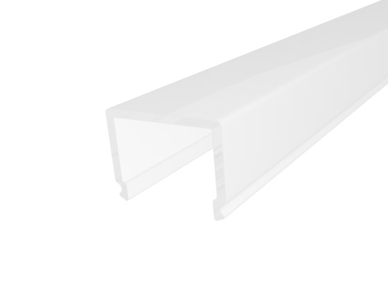 Deep Square Profile 26mm White Finish & Semi Clear Cover (1M)