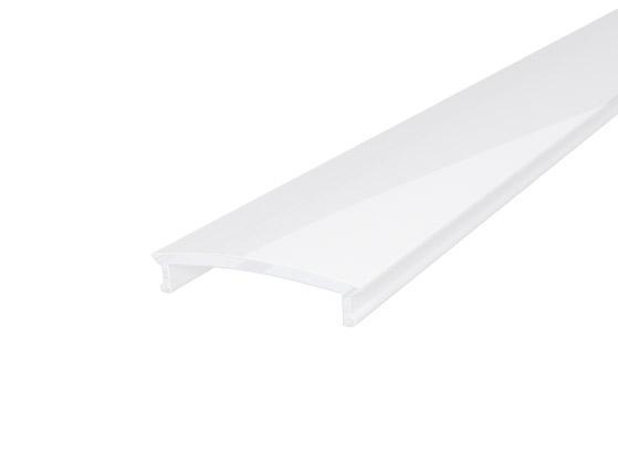 Slim Recessed Profile 23mm White Finish & Semi Clear Cover (1M)