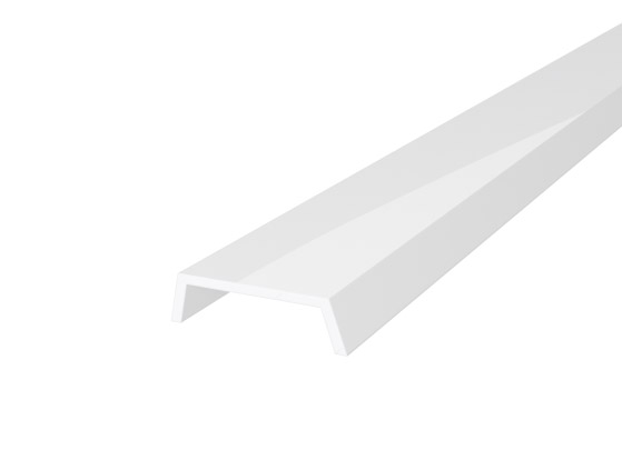 Slim Recessed Profile 15mm White Finish & Semi Clear Cover (1M)