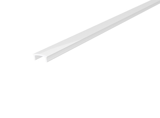 Stair Nosing Profile 65mm White Finish & Semi Clear Cover (2M)
