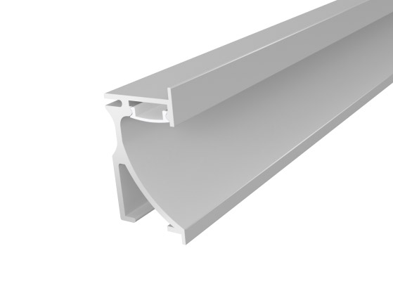 Skirting Profile 70mm Silver Finish & Semi Clear Cover (1M)