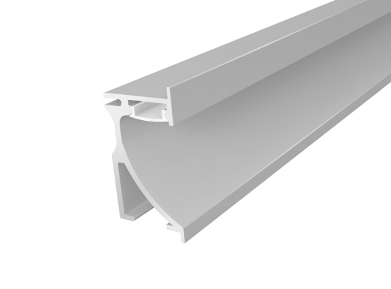 Skirting Profile 70mm Silver Finish & Opal Cover (1M)