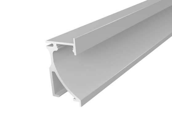 Skirting Profile 70mm Silver Finish & Opal Cover (2M)