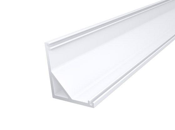 Slim Corner Profile 16mm White Finish & Clear Cover (1M)