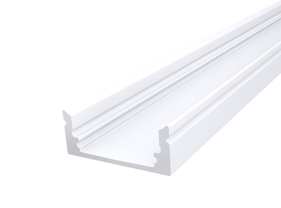 Slim Oval Profile 17mm White Finish & Clear Cover (2M)