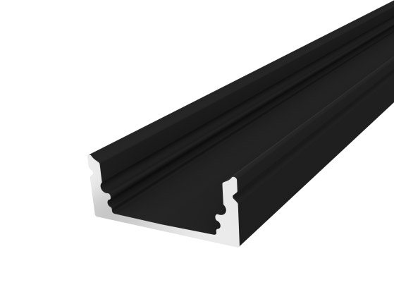 Slim Oval Profile 17mm Black Finish & Clear Cover (1M)