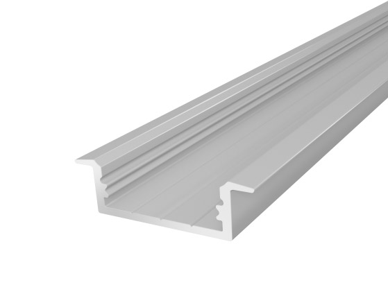 Slim Recessed Profile 23mm Silver Finish & Semi Clear Cover (2M)
