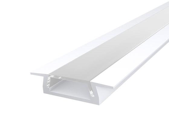 Slim Recessed Profile 15mm White Finish & Clear Cover (2M)