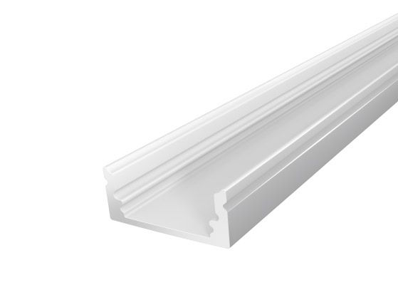 Slim Surface Profile 17mm Silver Finish & Semi Clear Cover (1M)