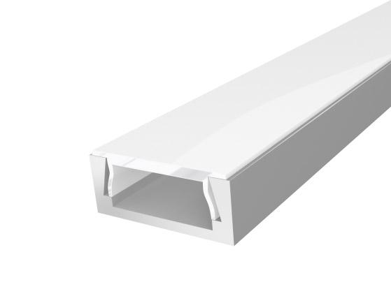 Slim Surface Profile 15mm Silver Finish & Semi Clear Cover (2M)