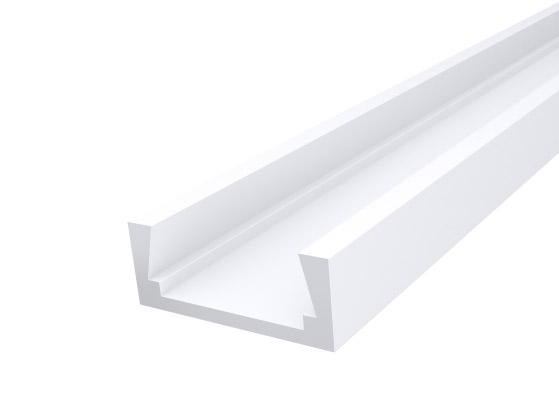 Slim Surface Profile 15mm White Finish & Clear Cover (1M)