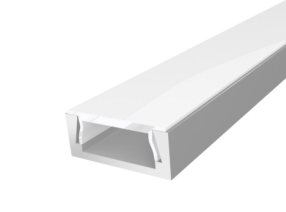 Slim Surface Profile 15mm Silver Finish & Semi Clear Cover (1M)