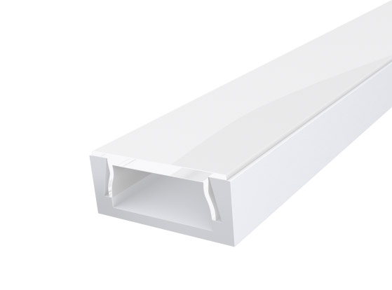 Slim Surface Profile 15mm White Finish & Opal Cover (2M)