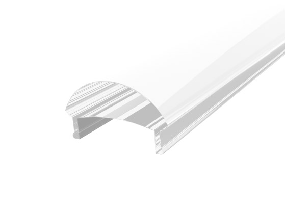 Slim Oval Profile 17mm White Finish & Clear Cover (1M)