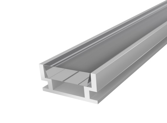 IP65 Walkover Profile 19mm Silver Finish & Clear Cover (2M)