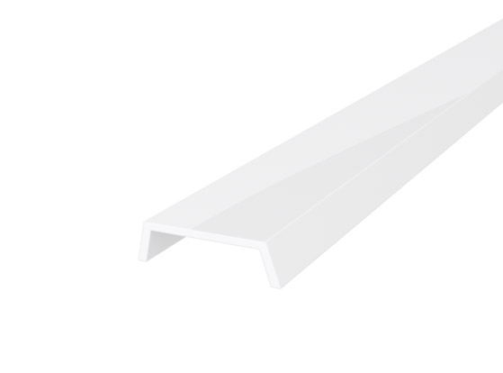 Slim Recessed Profile 15mm White Finish & Opal Cover (1M)