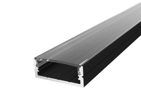 Wide Surface Profile 24mm Black Finish & Clear Cover (1M)