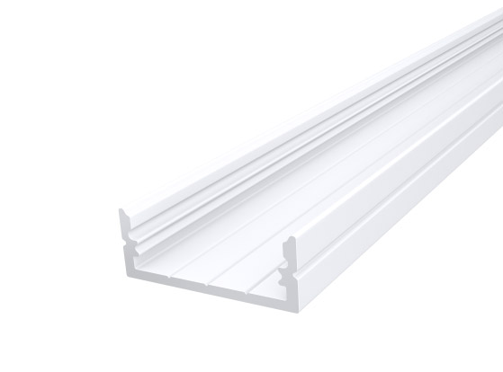 Wide Surface Profile 24mm White Finish & Semi Clear Cover (1M)