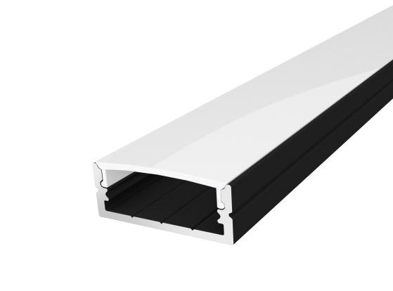 Wide Surface Profile 24mm Black Finish & Semi Clear Cover (2M)