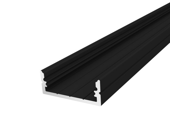 Wide Surface Profile 24mm Black Finish & Clear Cover (2M)