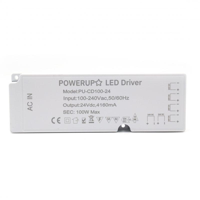 100W 24V 6 Output Cabinet LED Driver Front