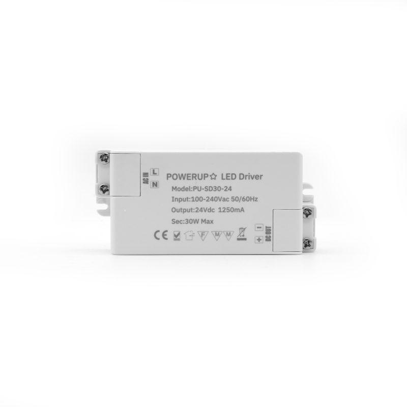 30W 24V Constant Voltage Driver PSU Front