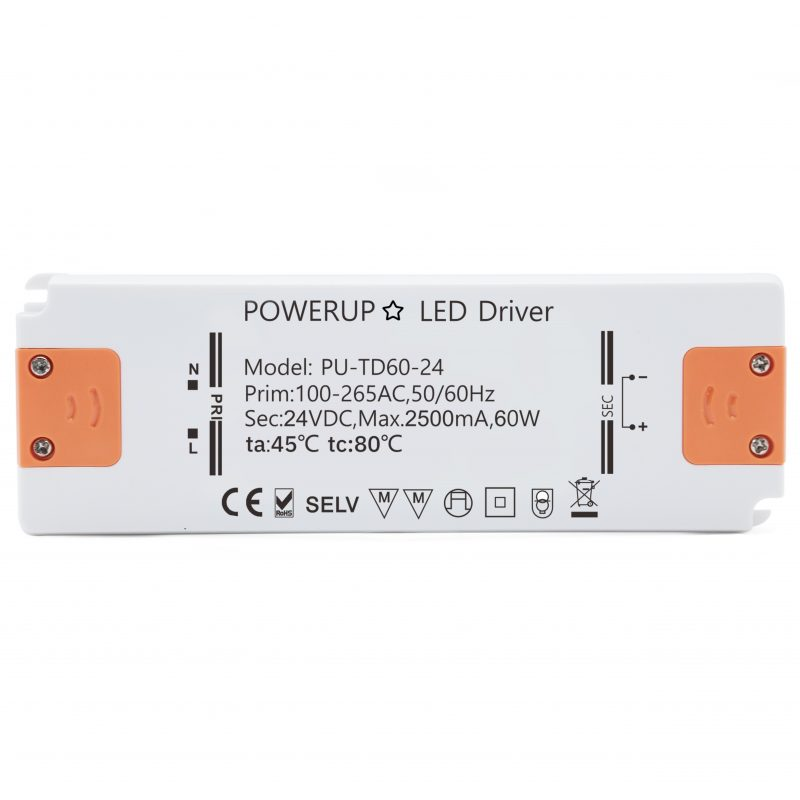 60W 24V Constant Voltage Driver PSU Front