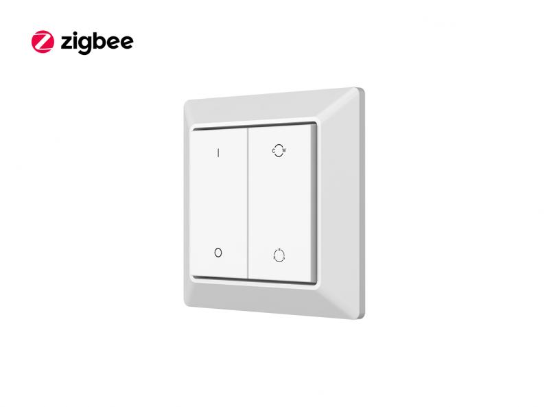 Zigbee Kinetic Eco Green Power Switch Wall Mounted Controller Diagonal
