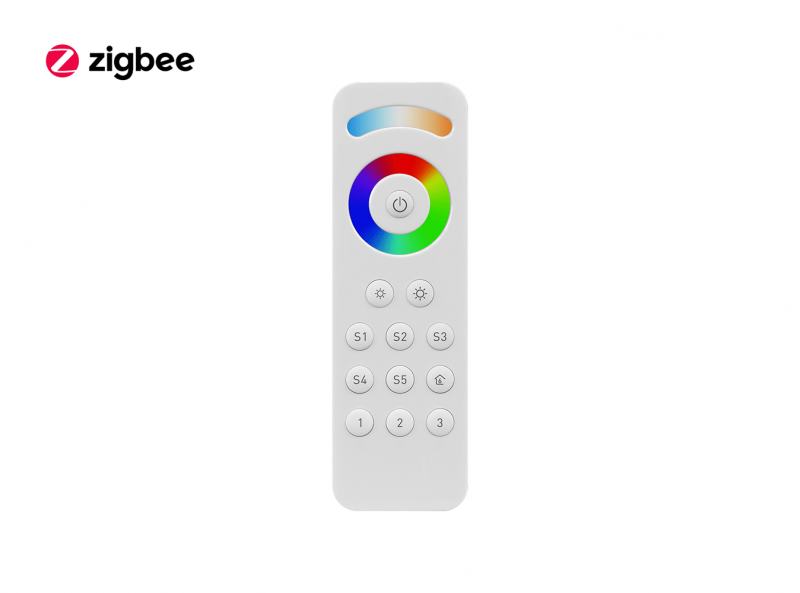 ZigBee RGBCW (RGB + CCT + DIM) LED Remote Front View