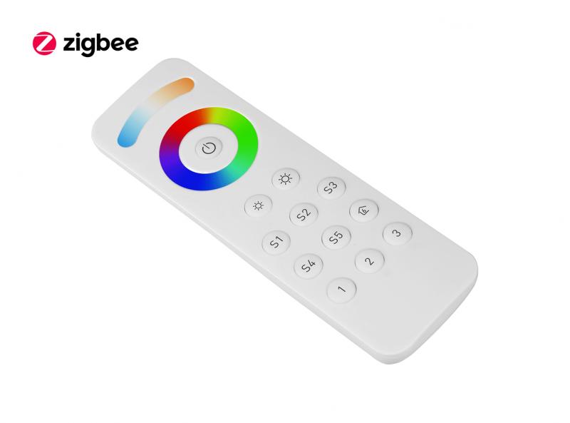 ZigBee RGBCW (RGB + CCT + DIM) LED Remote Diagonal