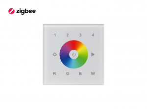 Zigbee Glass RGBW Touch Dimmer Wall Panel Front View
