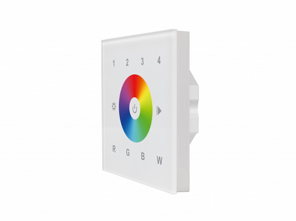 RGBW Glass Touch Dimmer Panel