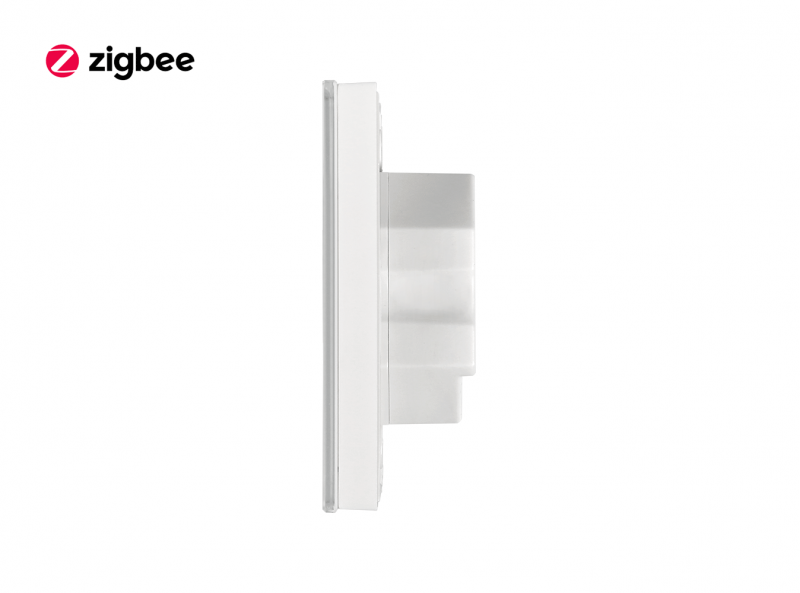 Zigbee Glass RGBW Touch Dimmer Wall Panel Side View