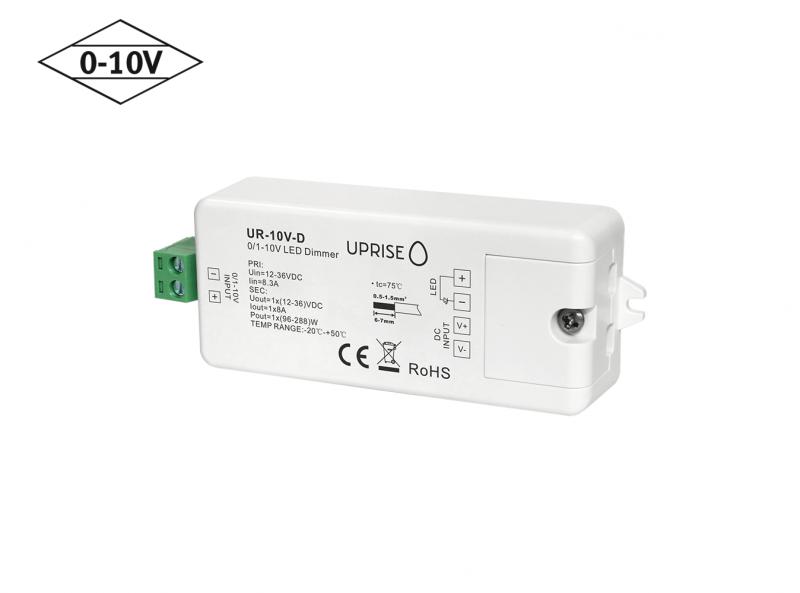 Constant Voltage 0-10V LED Dimmer Controller (1CH) Diagonal
