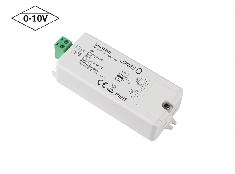 Constant Voltage 0-10V LED Dimmer Controller (1CH) Diagonal 3