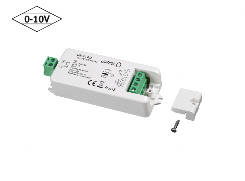 Constant Voltage 0-10V LED Dimmer Controller (1CH) Screw Terminal