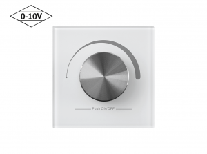 Mounted 0-10V Wall Dimmer Front View