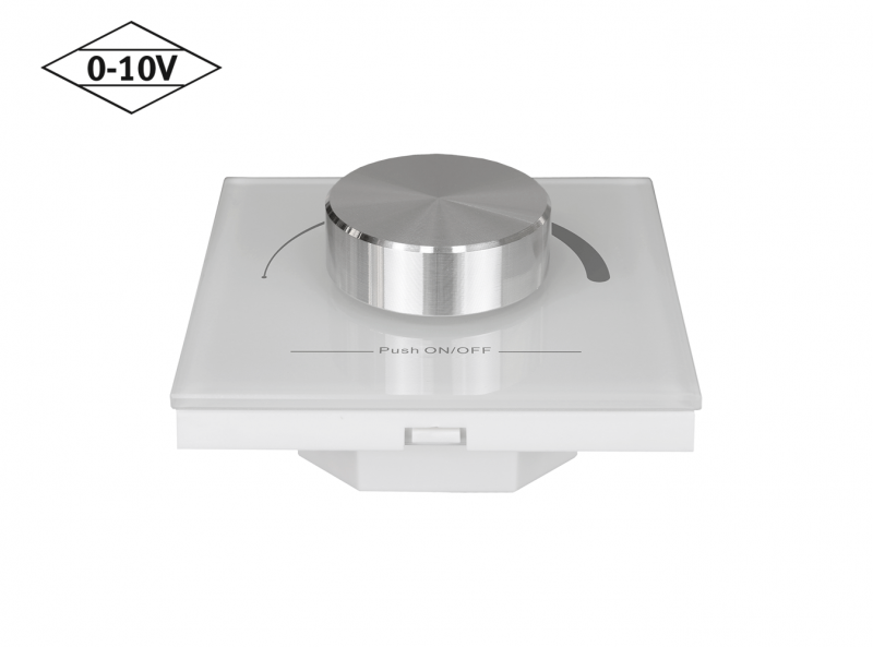Mounted 0-10V Wall Dimmer Top Down Diagonal View