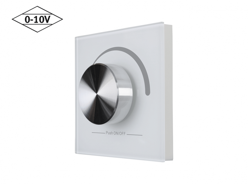 Mounted 0-10V Wall Dimmer Diagonal View